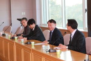 11蔚山科学大学総長、表敬訪問(東キャンパス)