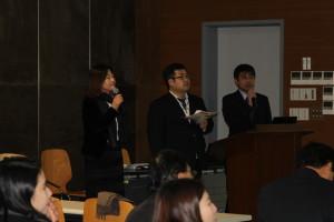 4秋谷先生・小松先生(長崎短期大学)、羅先生(佐賀女子短期大学)
