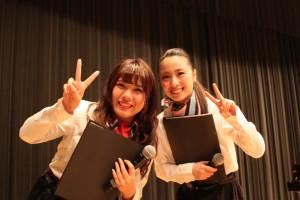 26-総合司会を務めた佐賀2短大の学生2人